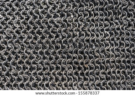 Background from metal rings, chainmail