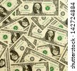 Background from money largely  1 dollar - stock photo