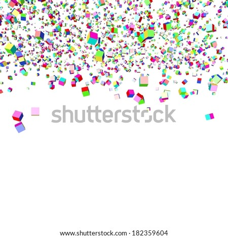 Background from multi-colored abstract cubes. It is isolated