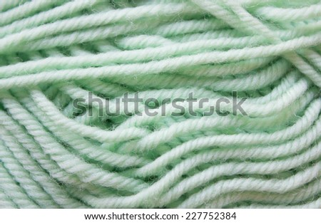 background from natural cotton twisted yarns green - stock photo