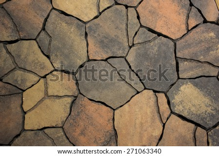 Background from paving stones, irregular natural stones texture  - stock photo