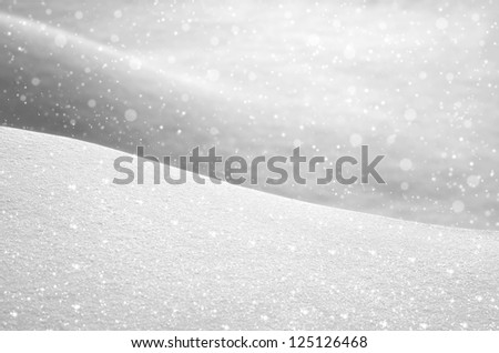 Background from snow - stock photo
