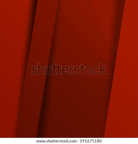 Background from strips of red paper overlay each other, message board, origami. for  web, brochures, presentations, explanations, flyers,   internet, magazine, padded,  Publicity, ad.  raster version - stock photo