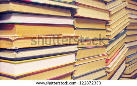 background from the bookshelf - stock photo