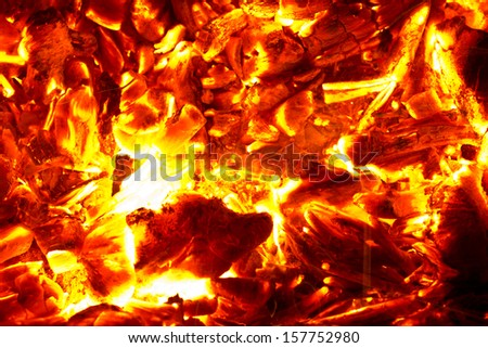 background from the burning of coal - stock photo