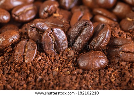 background from the fried coffee beans