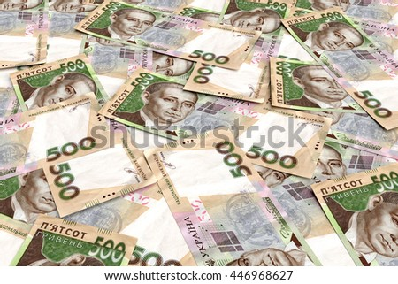 Background from ukrainian money hryvnia. 500 denomination. 3d