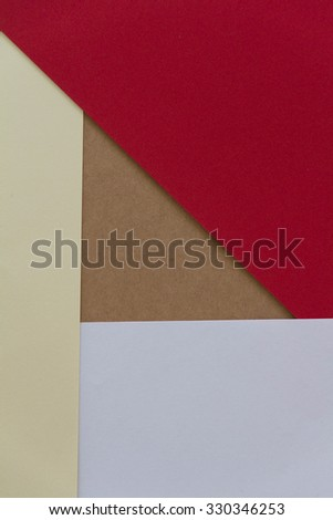 Background from white brown gold and red paper texture, Education Concept.