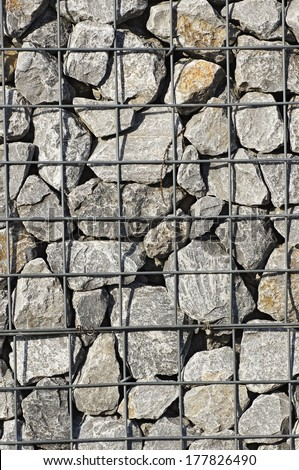 Background - gabion - filled with stones