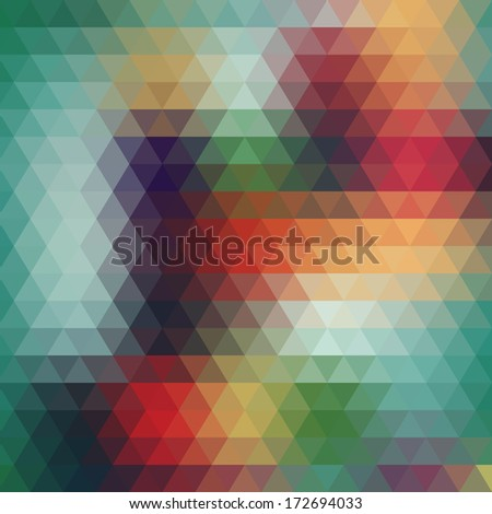 Background geometric pattern. Summer or spring theme. Retro pattern of geometric shapes. Colorful mosaic banner. Geometric background with place for your text. Abstract background for design