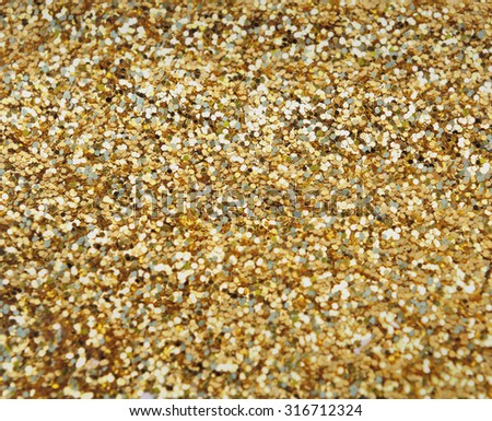 background golden confetti - stock photo