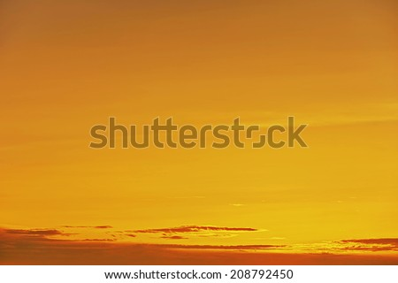Background - golden sunrise  sunset with clouds - stock photo