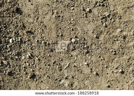 background gravel land - stock photo