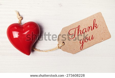 background - greeting card - thank you