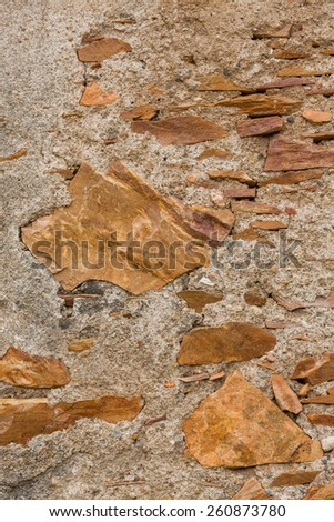 background grunge wall with stones - stock photo