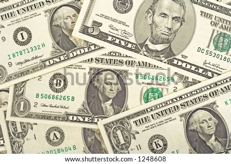 Background image from dollars bank notes