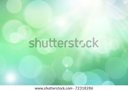 Background image in green and blue spring colors - stock photo