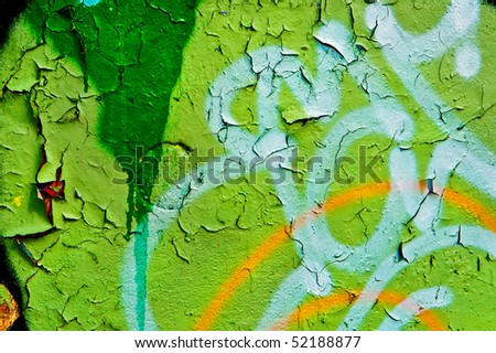 background image of a urban grafitti wall - stock photo