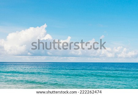 Background image of blue sky and sea. - stock photo
