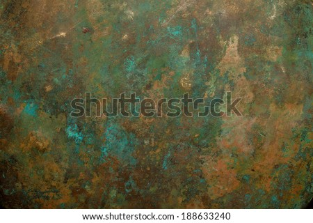 Background image of old copper vessel texture. - stock photo