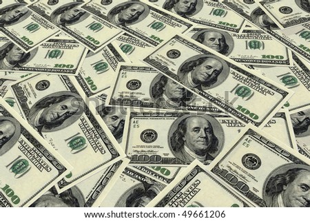 Background image of U.S. hundred dollar bills.