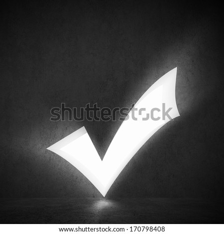 background image of white check mark. Voting - stock photo