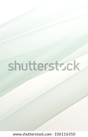 background image on green chiffon cloth - stock photo