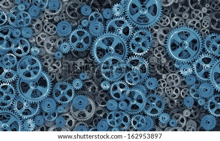 Background image with gears and cogwheels. Technologies and mechanism