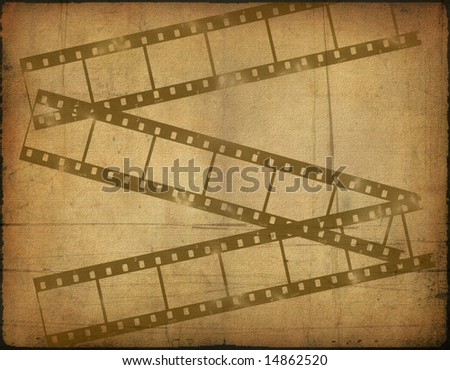 background image with interesting texture old paper and filmstrip