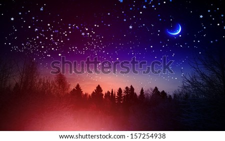 Background image with snowflakes. Happy New Year - stock photo