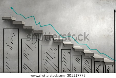 Background image with staircase presenting progress concept
