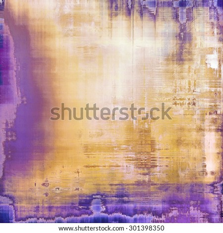 Background in grunge style. With different color patterns: yellow (beige); brown; purple (violet); blue - stock photo