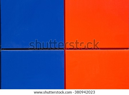 Background in the form of blue and red squares