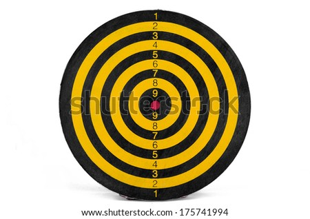 Background in the form of target closeup - stock photo