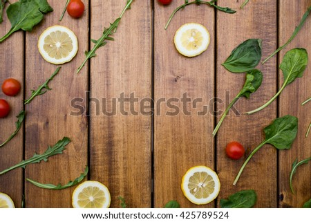 Background. Ingredients for making salad - stock photo