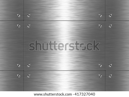Background is made of brushed metal plate. Pattern (seamless) - stock photo