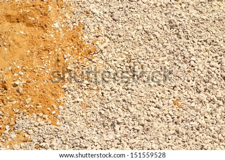 background is sand and rubble - stock photo