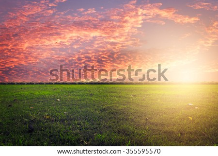background landscape clouds and sunset