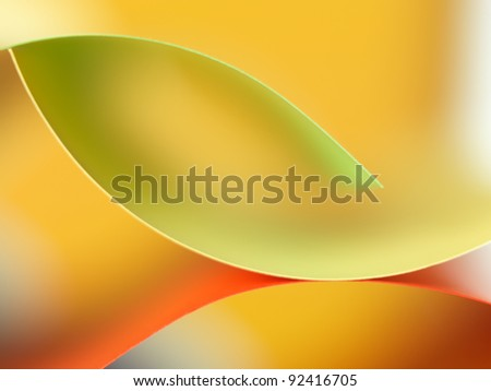background macro image of colorful origami pattern made of curved sheets of paper - stock photo