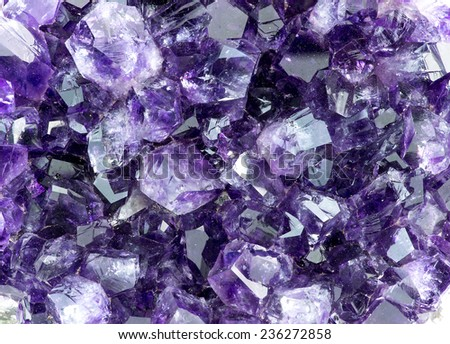Background macro texture of purple amethyst - stock photo