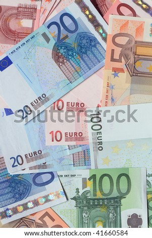 Background made from European Union Currency banknotes