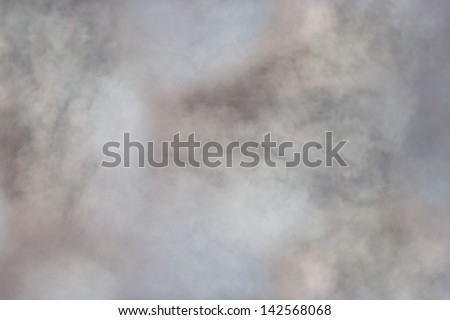Background made of a large and intense white cloud of smoke - stock photo