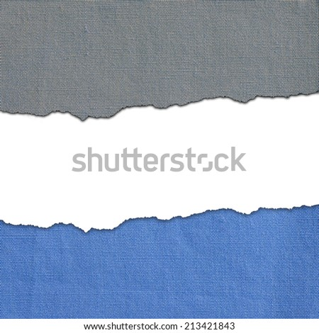 Background made of blue gray fabric stripes with white text space