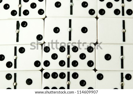 background made of domino closeup