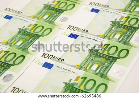 Background made of euro banknotes - stock photo