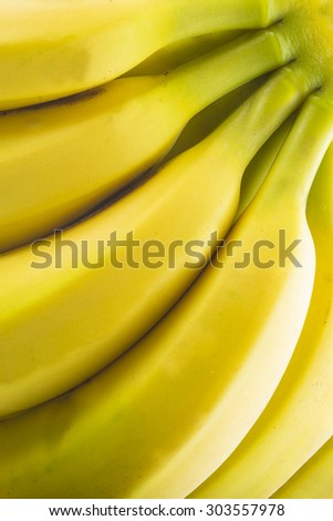 Background made of fresh bananas showing its texture