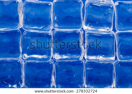 background made of ice cubes - stock photo