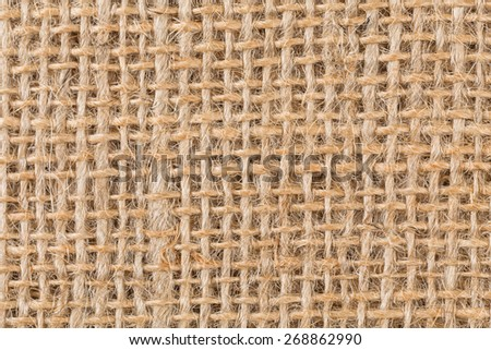 background made of old sackcloth - close up image - stock photo