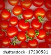 Background made of red cherry tomatoes - stock photo