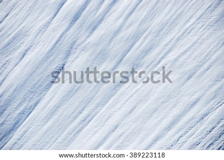 Background made of snow on a mountain slope. - stock photo